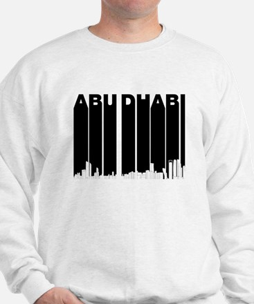 Retro Abu Dhabi Skyline Sweater