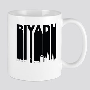 Retro Riyadh Saudi Arabia Skyline Mugs