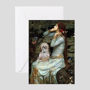 Ophelia/Shih Tzu (P) Greeting Card