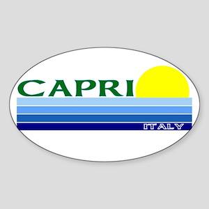 Capri, Italy Oval Sticker