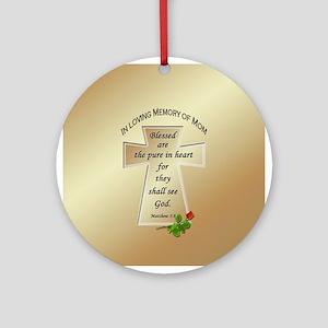 In Loving Memory of Mom Ornament (Round)