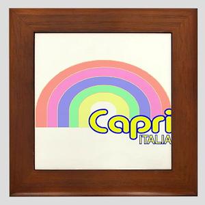 Capri, Italy Framed Tile