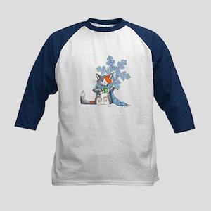Snowflake Kitten Kids Baseball Jersey