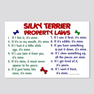 Silky Terrier Property Laws 2 Postcards (Package o