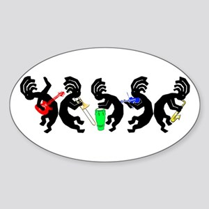 Kokopelli Band Oval Sticker