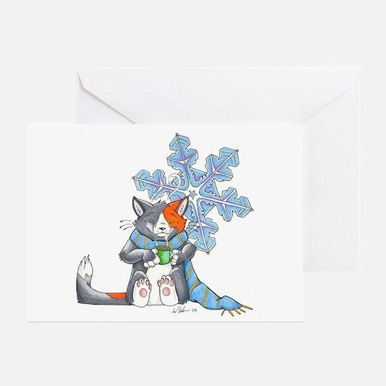 Snowflake Kitten Greeting Cards (Pk of 10)