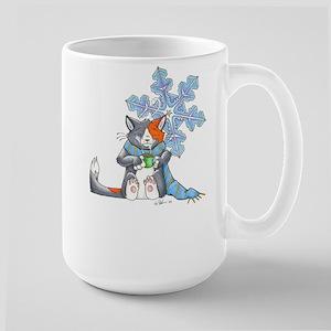 Snowflake Kitten Large Mug