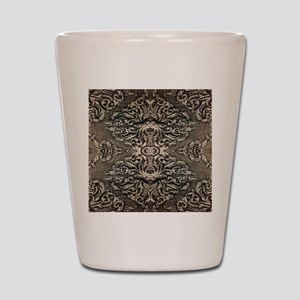 steampunk ornate western country Shot Glass