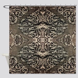 steampunk ornate western country Shower Curtain