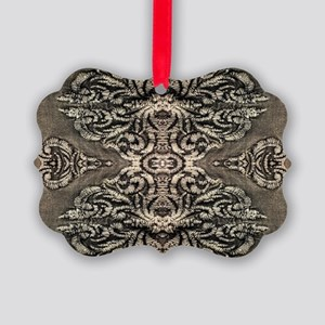 steampunk ornate western country Picture Ornament