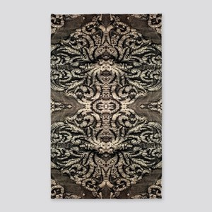 steampunk ornate western country Area Rug