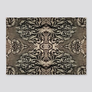 steampunk ornate western country 5'x7'Area Rug
