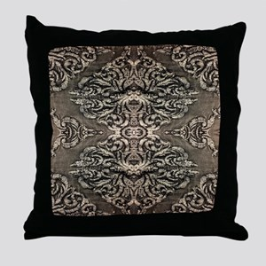 steampunk ornate western country Throw Pillow