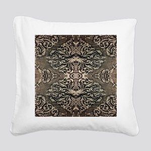 steampunk ornate western coun Square Canvas Pillow