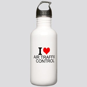 I Love Air Traffic Control Water Bottle