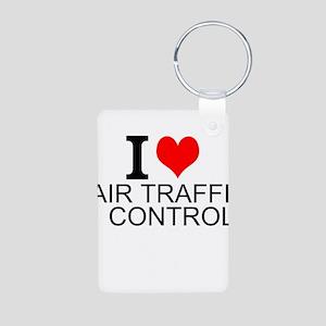 I Love Air Traffic Control Keychains