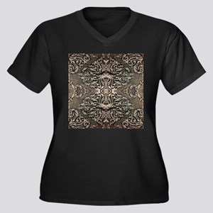 steampunk ornate western country Plus Size T-Shirt