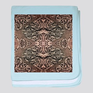 steampunk ornate western country baby blanket