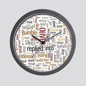 Oliver Twist Word Cloud Wall Clock