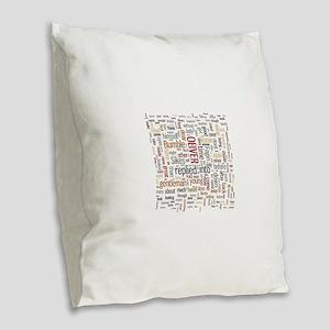 Oliver Twist Word Cloud Burlap Throw Pillow