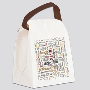 Oliver Twist Word Cloud Canvas Lunch Bag