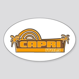 Capri, Italy Oval Sticker
