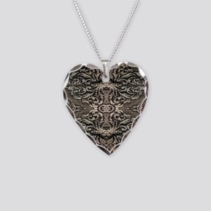 steampunk ornate western coun Necklace Heart Charm