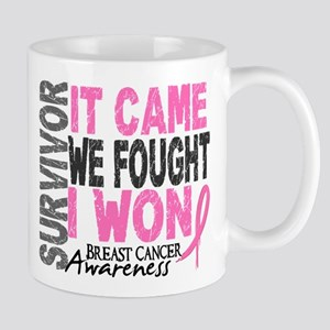 Breast Cancer Survivor 2 Large Mugs