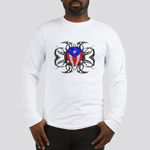 Puerto Rico Tribal Long Sleeve T-Shirt