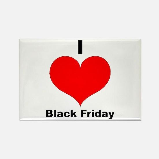 I Love Black Friday Rectangle Magnet