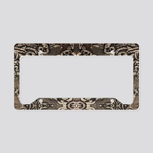 steampunk ornate western coun License Plate Holder