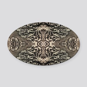 steampunk ornate western country Oval Car Magnet