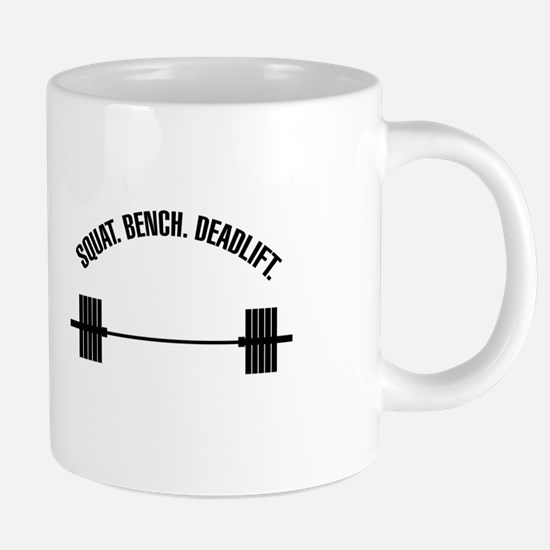 Squat Bench Deadlift Mugs