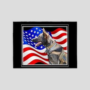 Veteran German Shepherd Dog 5'x7'Area Rug