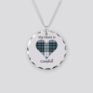 Heart-Campbell dress Necklace Circle Charm