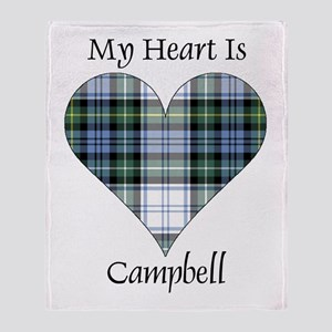 Heart-Campbell dress Throw Blanket