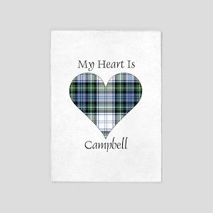 Heart-Campbell dress 5'x7'Area Rug