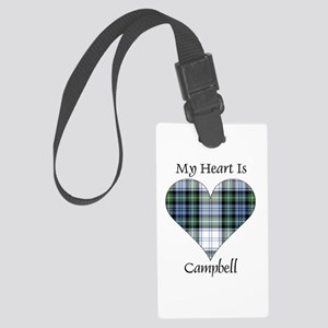 Heart-Campbell dress Large Luggage Tag