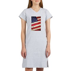 Abstract American Flag Women's Nightshirt