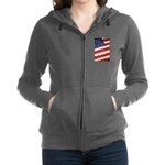 Abstract American Flag Women's Zip Hoodie
