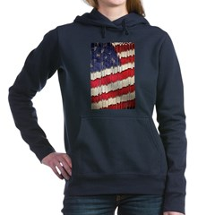 Abstract American Flag Women's Hooded Sweatshirt