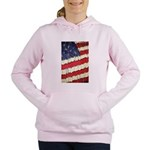 Abstract American Flag Women's Hooded Sweatshirt