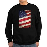 Abstract American Flag Sweatshirt