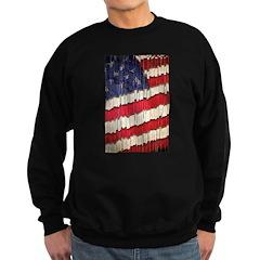 Abstract American Flag Sweatshirt