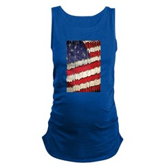 Abstract American Flag Maternity Tank Top