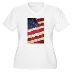 Abstract American Flag Plus Size T-Shirt