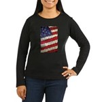 Abstract American Flag Long Sleeve T-Shirt