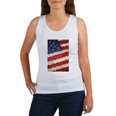 Abstract American Flag Tank Top