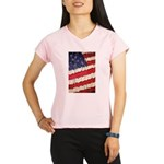 Abstract American Flag Performance Dry T-Shirt