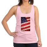 Abstract American Flag Racerback Tank Top